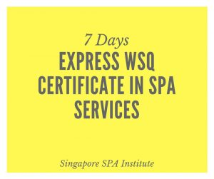 Express WSQ Certificate in Spa Services